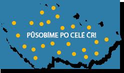 Mapa ČR - působíme po celé ČR